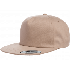 Кепка FlexFit 6502 - Unstructured 5-Panel Snapback Khaki