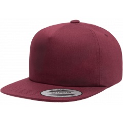Кепка FlexFit 6502 - Unstructured 5-Panel Snapback Maroon
