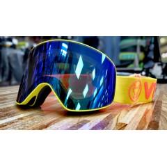 Горнолыжная маска VIZZO AFFECT  green mirror yellow frame